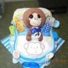 Monkey Bath Time Bassinet Diaper Cake