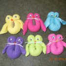 Boo Boo Owl Washcloths-baby shower favors