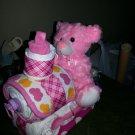 Bear Train Diaper Cake