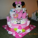 Disney's Minnie Mouse or Mickey Mouse Bath Time Bassinet Diaper Cake, Disney Theme Diaper Cake