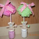 Bear Baby Favors-Spa Topiary Favors-baby shower favors-bridal shower favors, treat bags