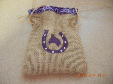 Horseshoe Treat Bags, Birthday Party Bags, Goodie Bag, Country Wedding Favors, Burlap Bags