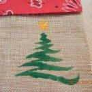 Reindeer, Xmas Tree or Angel Treat Bags, Party Bags, Goodie Bag, Xmas Party Favors, Burlap Bags