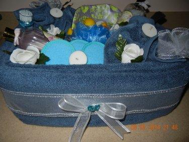 Spa Towel Cake, Bridal Shower & Wedding Towel Cake, Wedding & Bridal Gift, Housewarming & Towel Gift