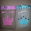 Princess Treat Bags, Burlap Treat Bags, Birthday Party Bags, Goodie Bag