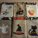 Halloween Treat Bags, Trick/Treat Party Bags, Goodie Bag, Party Favors, Halloween Burlap Bags