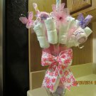 Washcloth & Diaper Bouquet-Diaper Centerpiece-Bouquet Arrangement