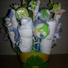 Diaper, Waschloths & Socks Bouquet