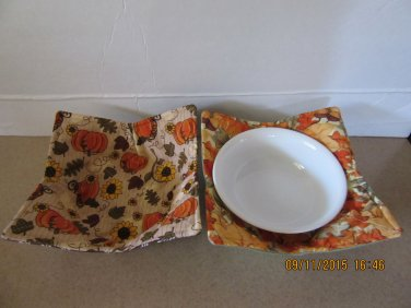 "Microwaver Bowl Cozies (Size 10""-Small), Holiday Cozies, Xmas & Fall Cozies"