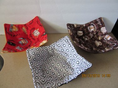"Microwaver Bowl Cozies (Size 10""-Small), Kitchen Gift, Housewarming Gift"