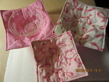 "Microwaver Bowl Cozies (Size 12""-Medium), Breast Cancer, Kitchen Gift, Housewarming Gift"