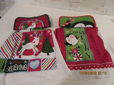 Hanging Holiday Potholder Dish Towel, Potholder Dish Towel Set, Kitchen Gift, Housewarming Gift