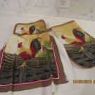 Hanging Potholder Dish Towel with Oven Mitt Set, Potholder Dish Towel Set, Housewarming Gift