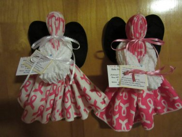 Breast Cancer Dish Towel Angel, Kitchen Angel, Kitchen Gift