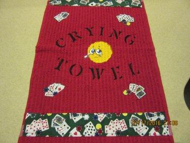 Crying Towel, Poker Towel, Housewarming Gift