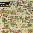 The Peak District Map Postcard. Mauritron 214323