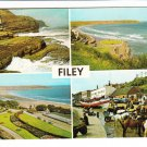 Filey Multiview Yorkshire Postcard. Mauritron 214381
