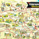 The Yorkshire Dales Map Postcard. Mauritron 220678