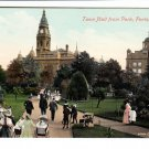Town Hall from Park Portsmouth Postcard. Mauritron 220732