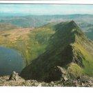 Striding Edge Red Tarn Helvellyn English Lakes Postcard. Mauritron 248397