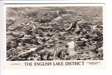The English Lake District Photograph Aerial View Postcard. Mauritron 248419