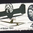 GB QE II Stamp 1965 Battle of Britain 4d MFU SG674 Mauritron 78024