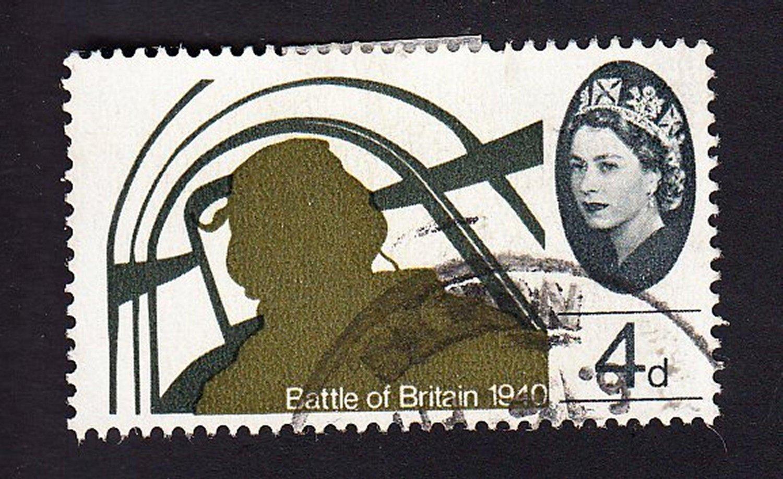 GB QE II Stamp 1965 Battle of Britain 4d MFU SG672 Mauritron 78028