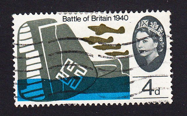 GB QE II Stamp 1965 Battle of Britain 4d MFU SG676 Mauritron 78029