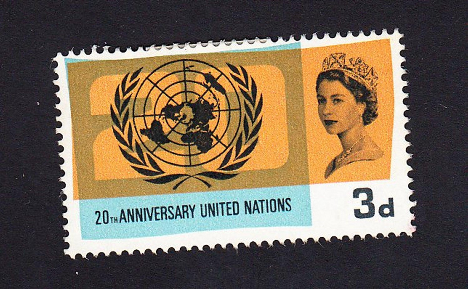 GB QE II Stamp 1965 United Nations 3d MM SG681 Mauritron 78037
