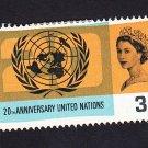 GB QE II Stamp 1965 United Nations 3d MM SG681 Mauritron 78037