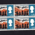 GB QE II Stamp 1966 Landscapes 1/6d Blk 4 UM PHOS SG692p Mauritron 78052