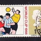 GB QE II Stamp 1966 World Cup 1/3d MFU SG695 Mauritron 78063
