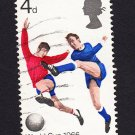 GB QE II Stamp 1966 World Cup 4d MFU SG693 Mauritron 78064