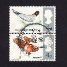GB QE II Stamp 1966 Birds 4d Blk 2 MFU SG696 698 Mauritron 78074