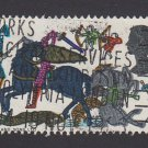 GB QE II Stamp 1966 Hastings 4d MFU SG705 Mauritron 78089