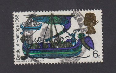 GB QE II Stamp 1966 Hastings 6d MFU SG711 Mauritron 78094