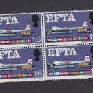 GB QE II Stamp 1967 EFTA 1/6d Blk 4 UM MM PHOS SG716P Mauritron 78101