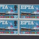 GB QE II Stamp 1967 EFTA 9d Blk 4 MM UM PHOS SG715P Mauritron 78102