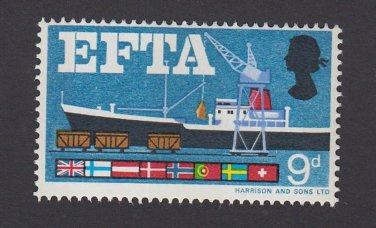 GB QE II Stamp 1967 EFTA 9d UM PHOS SG715P Mauritron 78105