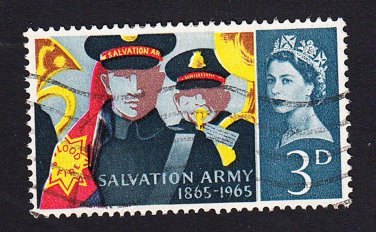 GB QE II Stamp 1965 Salvation Army 3d MFU SG665 Mauritron 78109