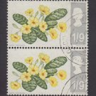 GB QE II Stamp 1967 Flowers 1/9d Blk 2 MFU SG722 Mauritron 78115