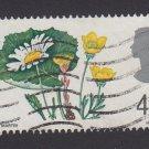 GB QE II Stamp 1967 Flowers 4d MFU PHOS SG717P Mauritron 78118