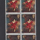 GB QEII Stamp. 1967 Paintings 4d BLK 6 UM SG748 Mauritron #78131