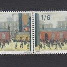 GB QEII Stamp. 1967 Paintings 1/6d BLK 2 UM SG750 Mauritron #78133