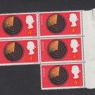 GB QEII Stamp. 1967 Discoveries 4d BLK 5 UM SG752 Mauritron #78137