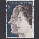 GB QEII Stamp. 1971 Silver Wedding 3p VFU SG916 Mauritron #78163