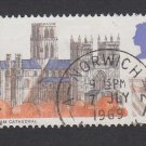 GB QEII Stamp. 1969 Cathedrals 5d MFU SG796 Mauritron #78214