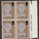 GB QEII Stamp. 1969 Prince Charles 9d Edge BLK 4 UM SG805 Mauritron #78222