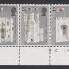 GB QEII Stamp. 1969 Prince Charles 5d Edge BLK 3 UM SG802 to 804 Mauritron #78228