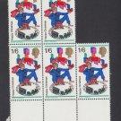 GB QEII Stamp. 1968 Christmas 1/6d Edge BLK 5 UM SG777 Mauritron #78235